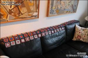 Mit hæklede tæppe projekt: 20.11.2012 – hæklet 64 firkanter