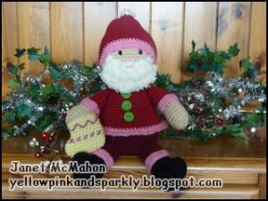 Funky Santa af Janet McMahon