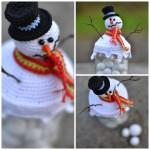 Hæklet snemand / låg til sneguf