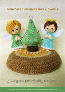 Miniature Juletræ & Engle