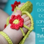 Baby Flower Power sandaler