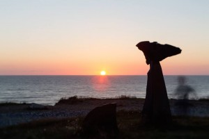 Solnedgang over Hirtshals