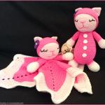 Babysæt sutteklud og bamse i pink