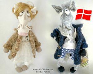 Little Owls Hut - Fru og Hr Hest i frakke