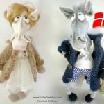 048Dk Fru og Hr Hest i frakke