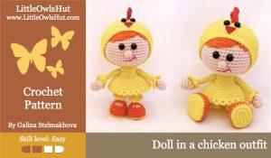 Little Owls Hut - pige i kyllinge kostume