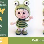 Little Owls Hut - Pige i frø kostume