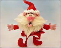 Den muntre julemand - Amigurumi Hækle Opskrift