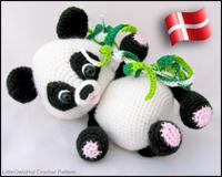 Panda - Amigurumi Hækle Opskrift