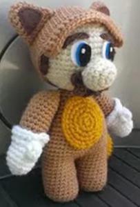 Vaskebjørnen Mario fra Loopyyarn