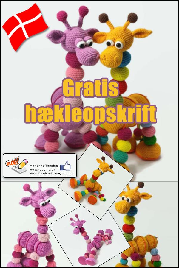 Kom og hækl den skønne Amalka giraf fra Hippe Haaksels! Gratis DANSK hækleopskrift med god vejledning og billeder. Download den DANSKE hækleopskrift hos Marianne Topping.