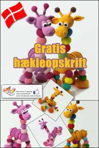 Gratis hækleopskrift på DANSK - Amalka giraffen, hent den på www.topping.dk