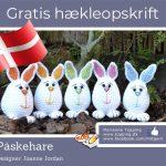 Hækl den lille påskehare – gratis – dansk – hækleopskrift