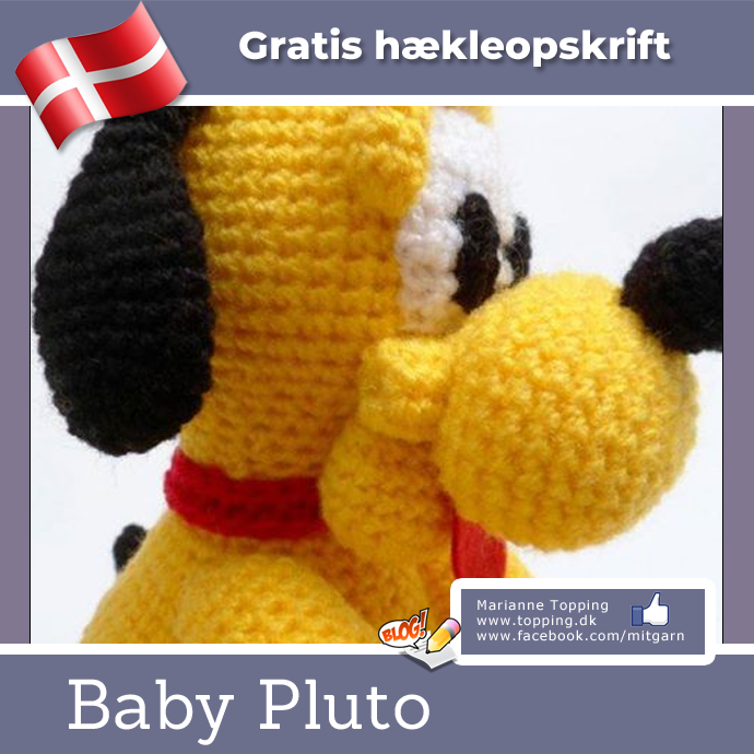 Baby Pluto gratis dansk hækleopskrift