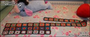 Mit hæklede tæppe projekt: 06.11.2012 - hæklet 40 firkanter