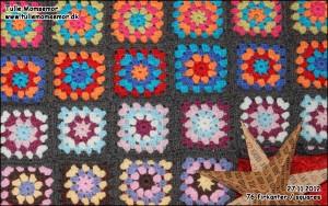 Mit hæklede tæppe projekt: 27.11.2012 – hæklet 76 firkanter