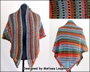 Bonita Crocheted Openwork Shawl