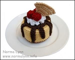Hæklede flødekager - Sundae Oh La La Cheesecake