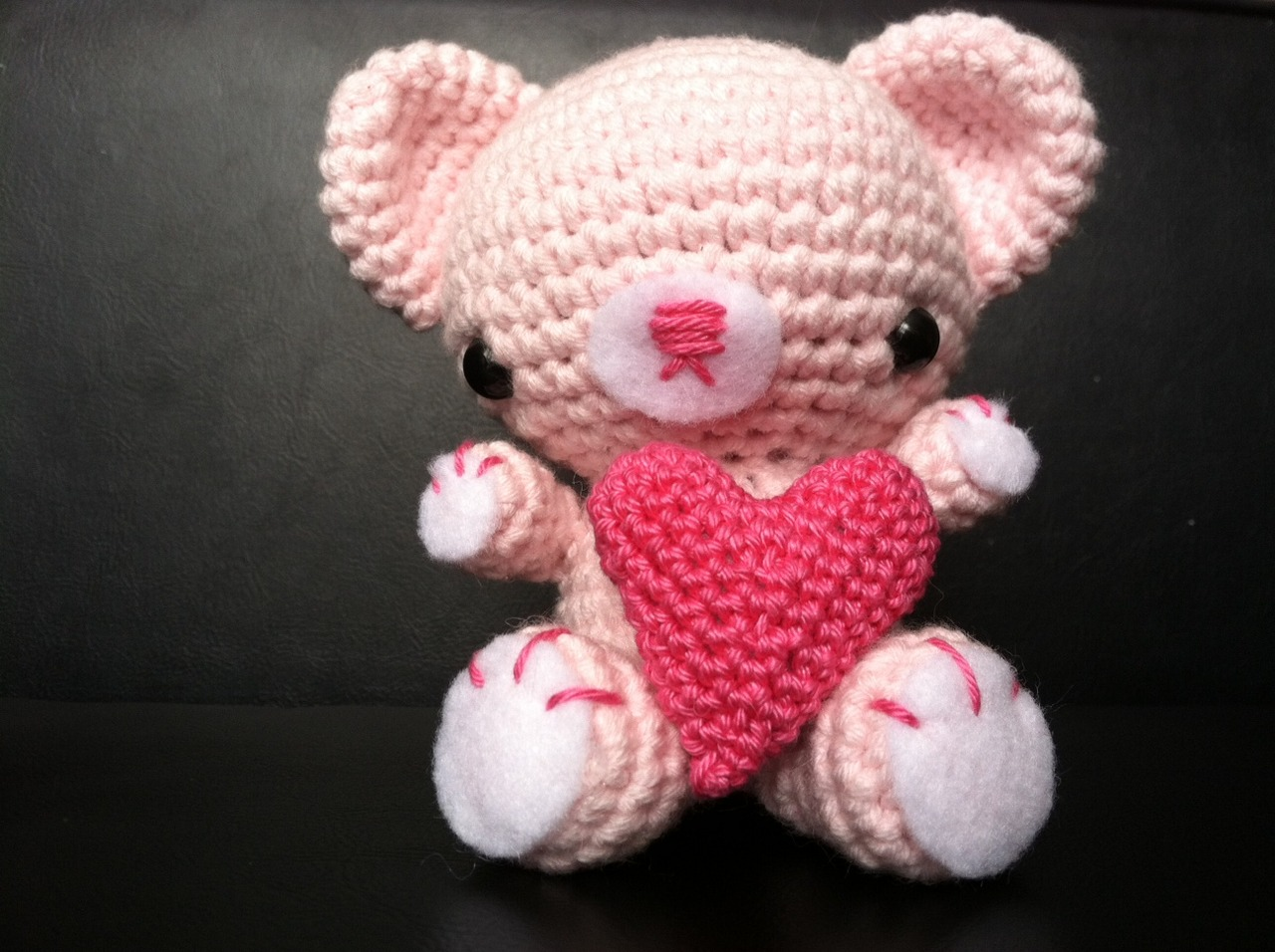 Valentine Bamse med hjerte