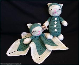 Babysæt sutteklud og bamse i grønt
