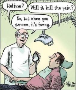 Prøver at grine..