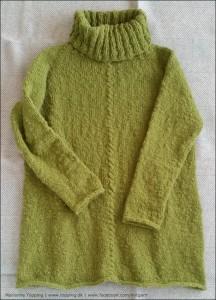 Lækker, vamset trøje strikket i ICE garn
