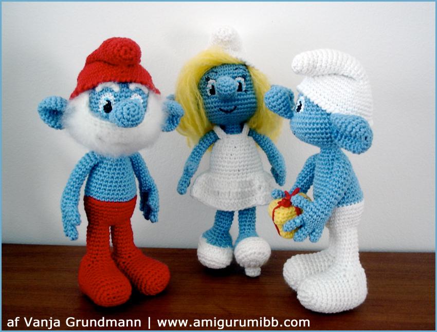 Smølferne af Vanja Grundmann, AmigurumiBB