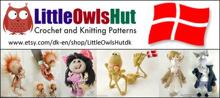 Little Owls Hut, Danske hækleopskrifter