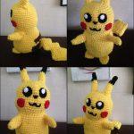 Pikachu hækleopskrift, af Bettina Lindegaard